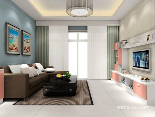 客厅装修风格三:古典现代的结合