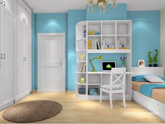 韩式田园风格的卧室装修效果图图片
