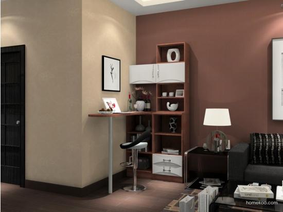 新中式电视墙效果图 新中式酒柜效果图 新中式博古架效果图高清图片