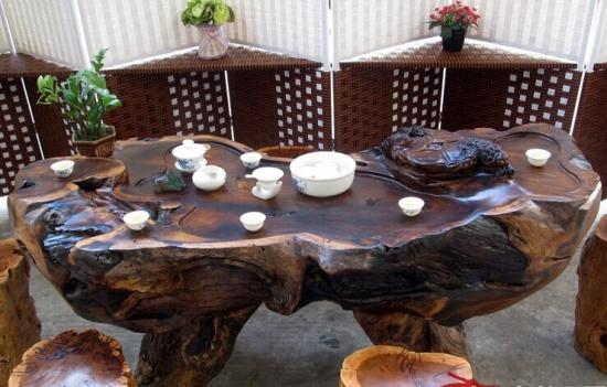 香樟木根雕茶几价格
