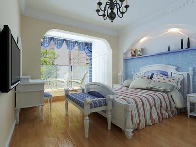 带阳台卧室装修设计图片