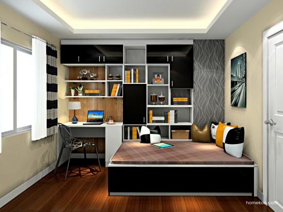 卧室整体书柜