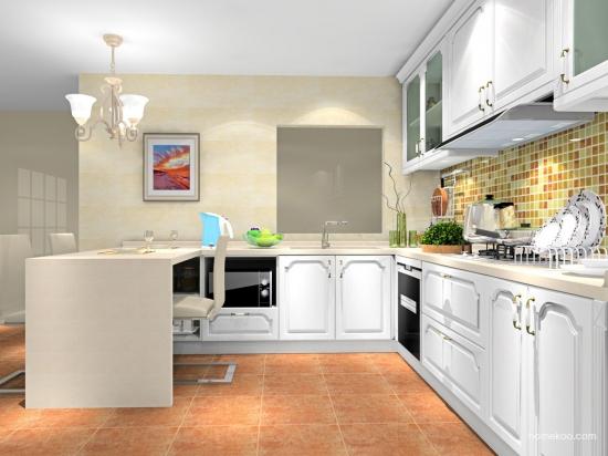 小户型的开放式厨房吧台宽度是多少