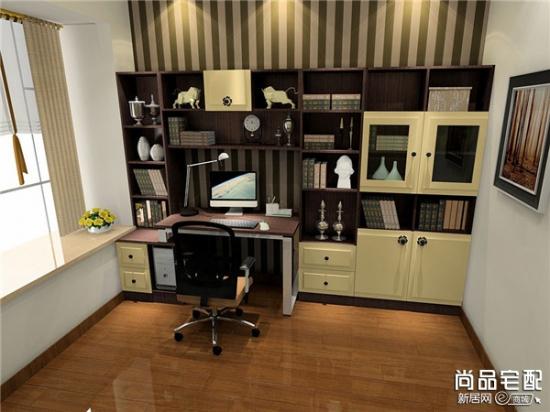 电脑桌上面的书架如何进行摆放最好