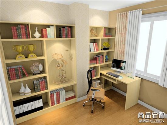【家装介绍】书架带电脑桌