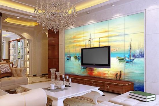 瓷砖背景墙客厅的主流风格