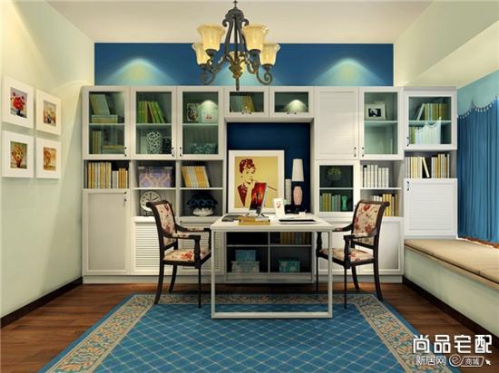 地中海书房 打造温情的空间