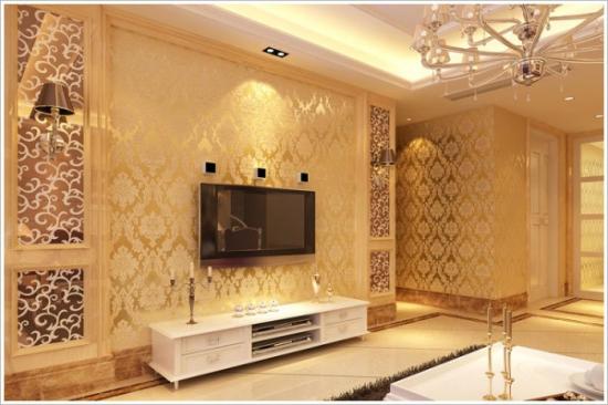 欧式电视墙壁纸怎样装修比较好