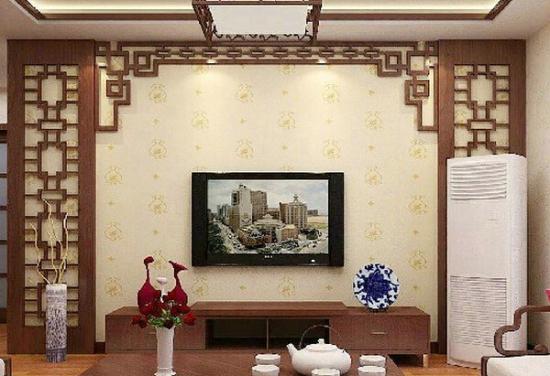 电视背景墙木雕图案_木雕花格电视背景墙 给你与众不同的感觉