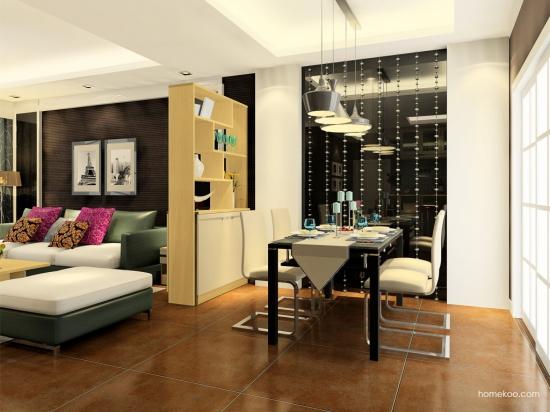 厨房和客厅的隔断柜风格类型