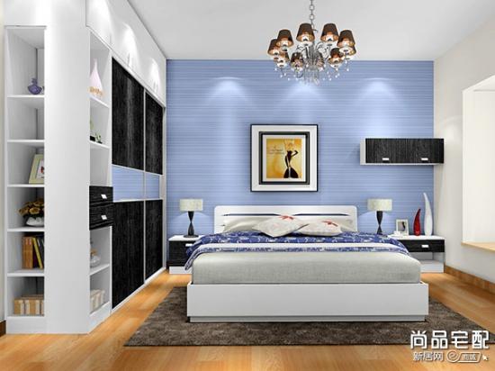 蓝色卧室壁纸 享受唯美的睡眠生活
