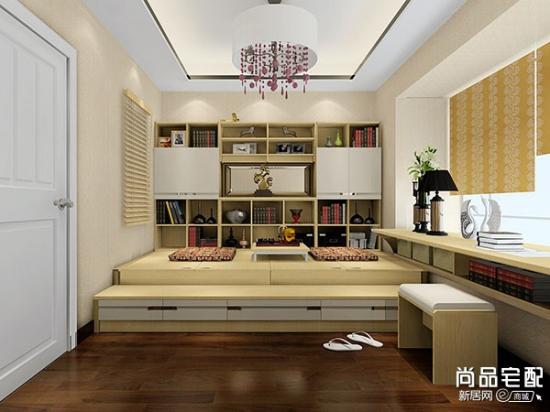 现代风格书房设计说明