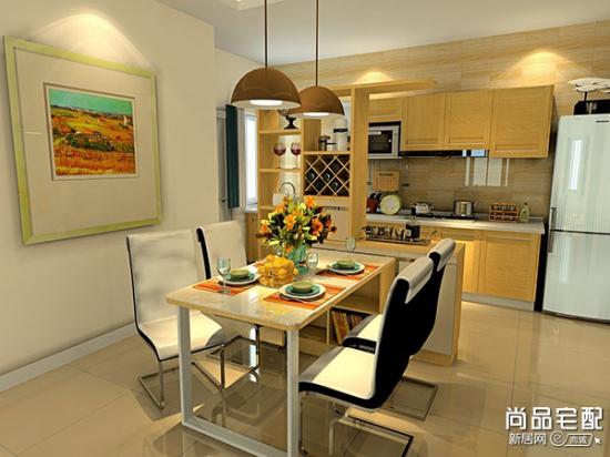 温馨的半开放式厨房装修设计