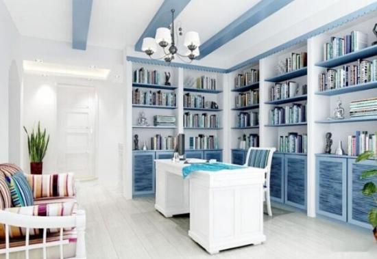 地中海风格的书房 色彩绚烂