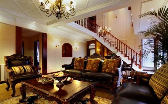 复式楼客厅楼梯设计的形式图片