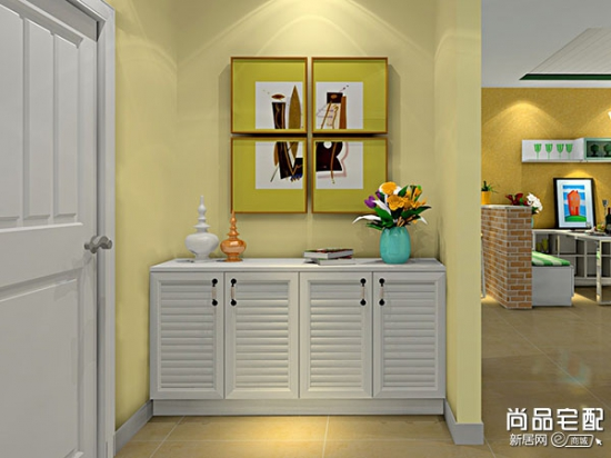 玄关鱼缸隔断柜的效果图呈现高清图片