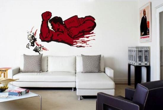手绘墙画价格 打造客厅新表情