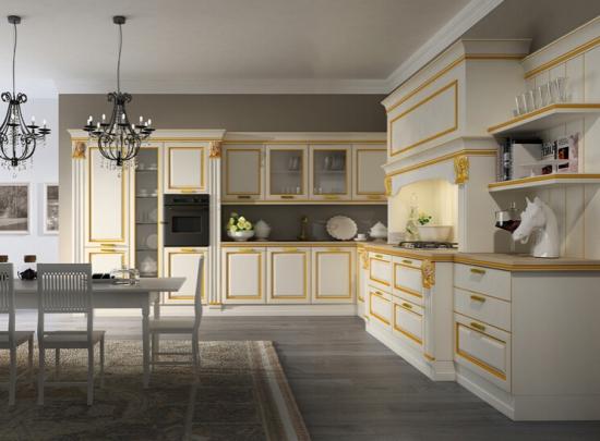 带你体验奢华欧式厨房