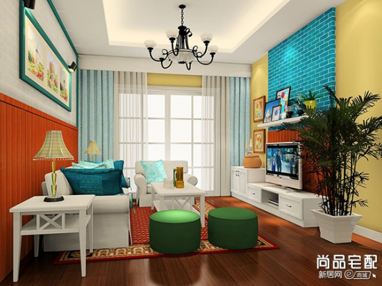 房子客厅背景墙 尽显家中个性特点