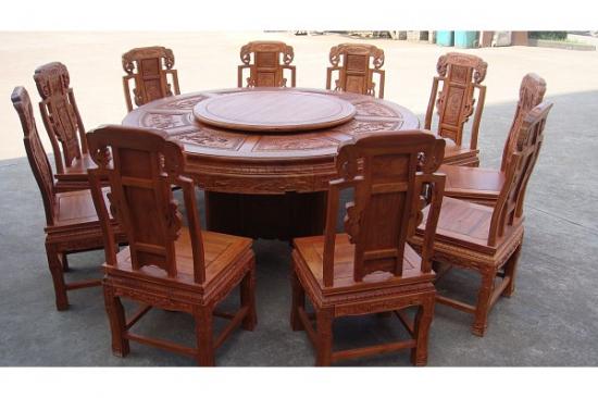 鸡翅木圆餐桌――保养小技巧