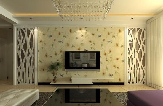 客厅壁纸电视墙 怎样正确的利用