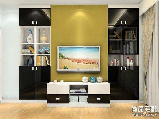 客厅电视背景墙 彰显出生活