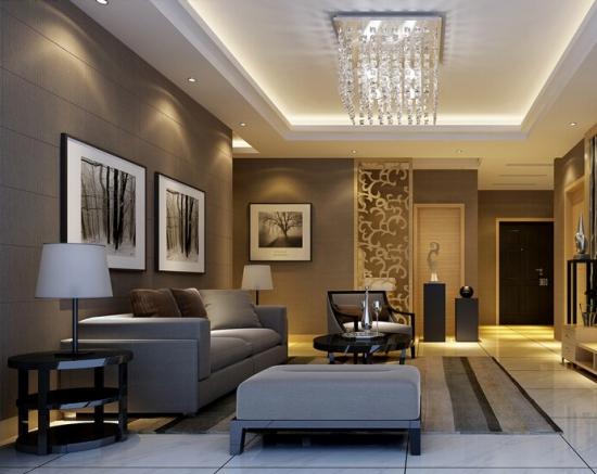 客厅方形水晶灯图片大全
