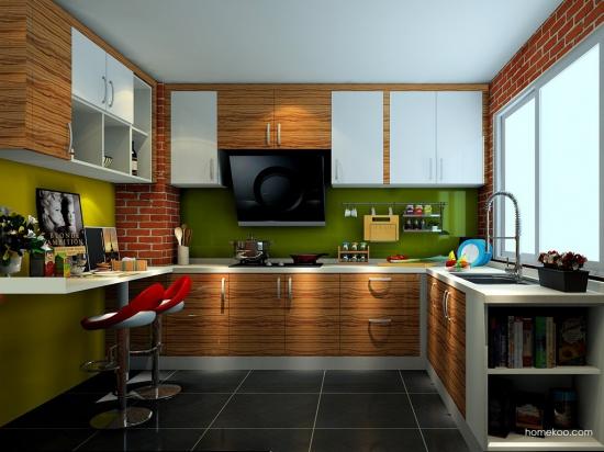 开放式厨房带吧台