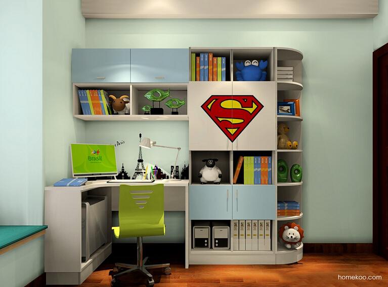 儿童转角书柜