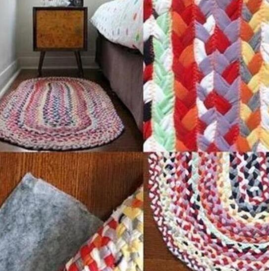 旧衣服旧床单改造地毯教程图解