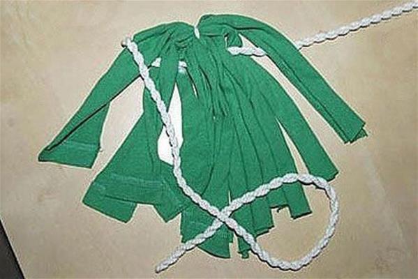 旧衣物巧利用:旧衣物巧利用拖鞋图解