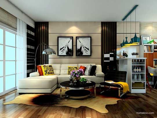 沙发背景墙效果图2016图片