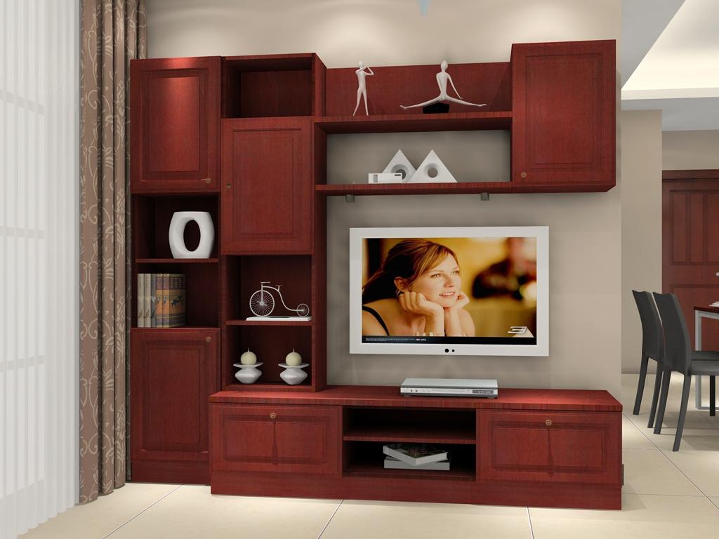 实木电视柜效果图大全欣赏