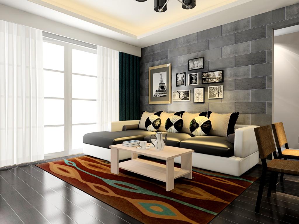 进门客厅装修设计效果图——北欧阳光沙发茶几效果图图片