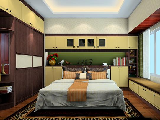 卧室转角衣帽间设计图