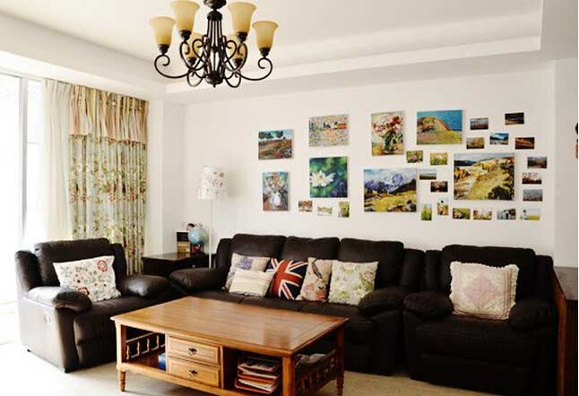 客厅布艺沙发图片