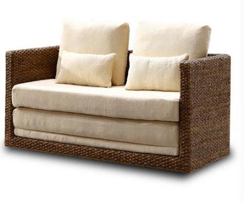 客厅单人折叠沙发床图片