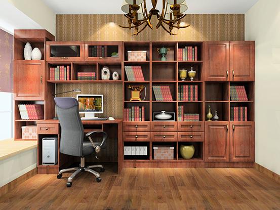 2016房间书柜装修效果图图片