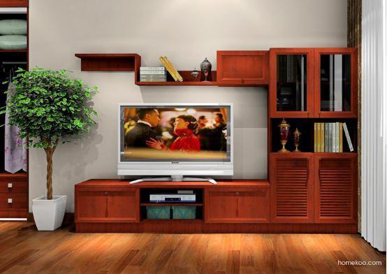 中式组合电视柜图片大全