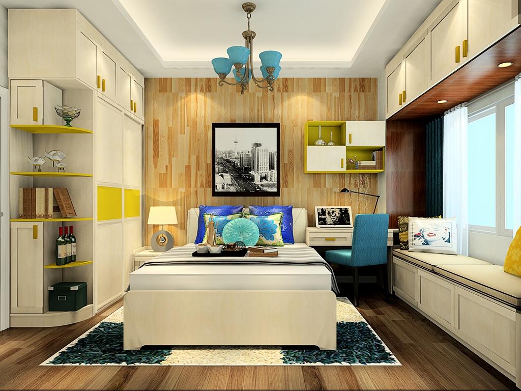 婚房卧室壁纸装修效果图