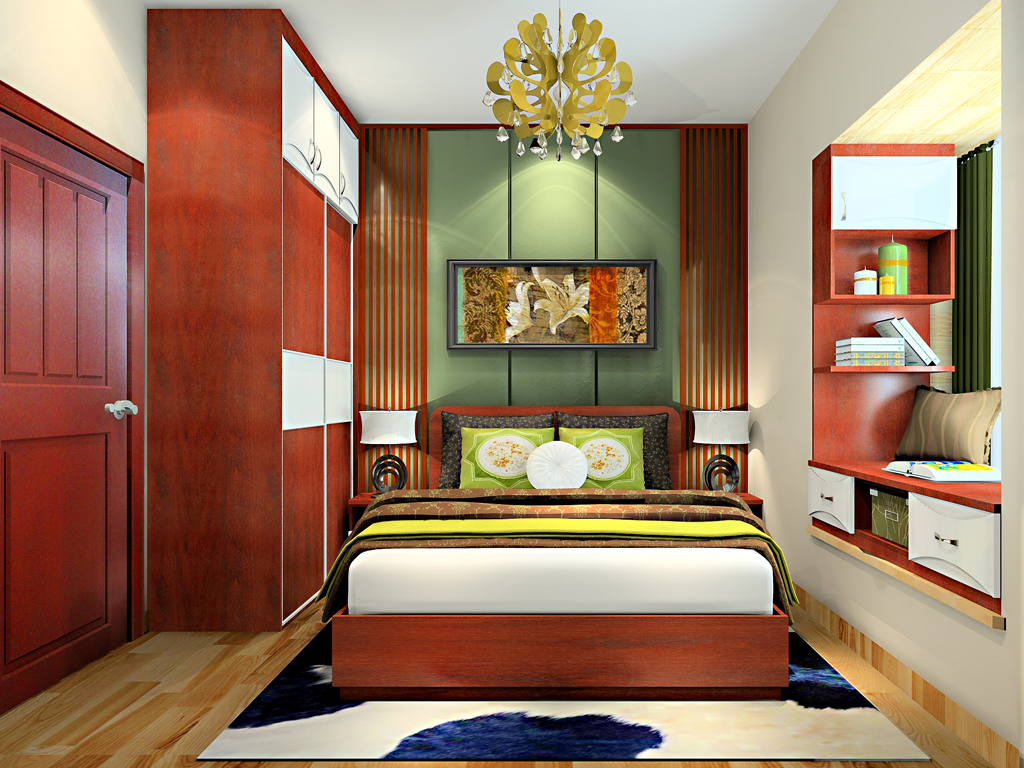 怎样做卧室墙纸效果图