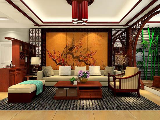 中式家装客厅效果图图片
