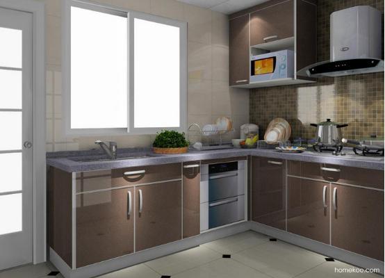 小户型简约风格装修效果图厨房图片