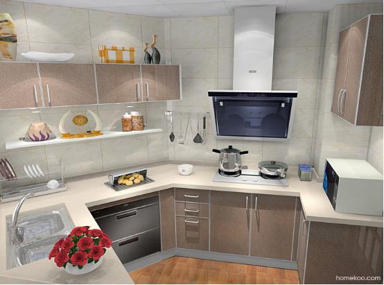 小厨房整体橱柜效果图2016