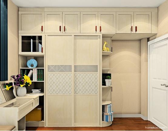 卧室整体衣柜效果图定制设计