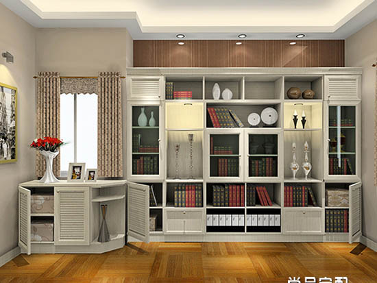 家庭书柜效果图