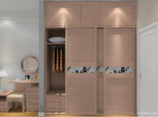 新居图库 卧室装修效果图 整体衣柜 衣柜带梳妆台效果图 衣柜梳妆台图片