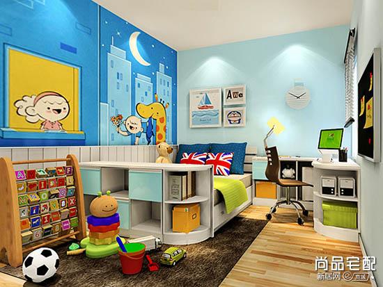 儿童房手绘墙壁纸