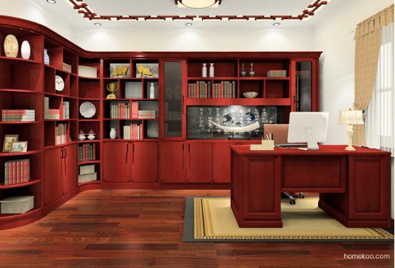 中式书房图片2016 中式书房装修效果图图片