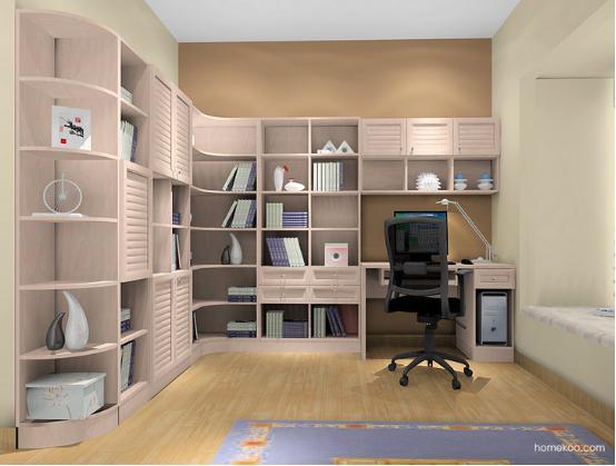 新居图库 书房装修效果图 书柜效果图 2016书柜设计图片大全 家用书柜图片